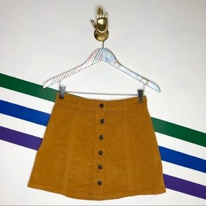 NEW American Eagle corduroy a-line button skirt